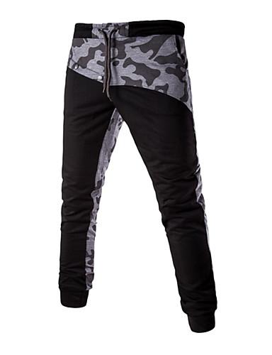 Pánské Aktivní strenchy Tepláky Kalhoty Štíhlý Volné Mid Rise Proužky