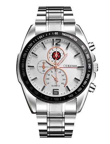 Herre Simulert Diamant Klokke Unike kreative Watch Armbåndsur Selskapsklokke Moteklokke Hverdagsklokke Kinesisk Quartz Hot Salg Metall