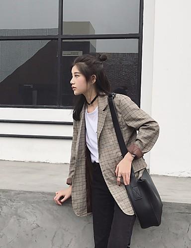 여성 솔리드 V 넥 긴 소매 블레이져,귀여운 섹시 시누아즈리 파티 데이트 보통 면 봄 가을