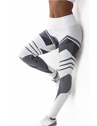 c1ba98fc80d157 Women's Cross - spliced / Sporty Legging - Striped, Print Mid Waist /  Sporty Look / Skinny