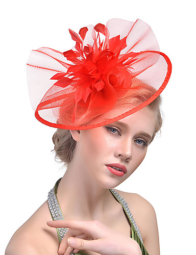Bello Per Donna Kentucky Derby Cappelli Tinta Unita Maglia Acrilico Pelle #06254057