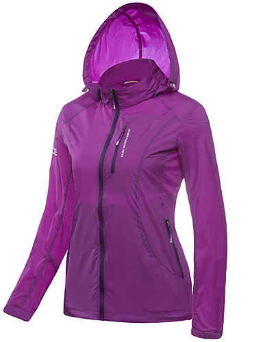 0c4c10d2fb2 LEIBINDI Women s Outdoor Windproof Breathable Quick Dry Ultraviolet  Resistant Jacket Top Camping   Hiking Fishing Climbing Purple   Fuchsia