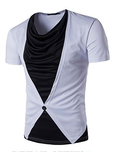 Herren Solide Einfach Lässig/Alltäglich T-shirt,Rundhalsausschnitt Sommer Kurzarm Baumwolle