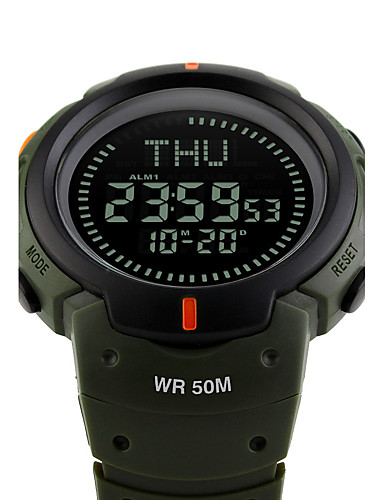d8c1459e61a2 SKMEI Hombre Reloj Deportivo Reloj Militar Reloj de Pulsera Japonés Digital  Silicona Negro   Verde 50