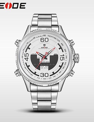 WEIDE Homens Quartzo Digital Relogio digital Relógio de Pulso Relógio Militar Relógio Esportivo Japanês Alarme Calendário Impermeável LED