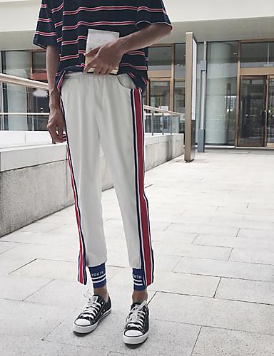 Dámské Jednoduchý Není elastické Kalhoty chinos Kalhoty Štíhlý Mid Rise Jednobarevné Barevné bloky