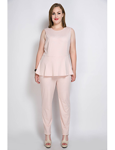 29f301a2339ef Women s Plus Size Party   Daily   Work Vintage   Street chic Blue Black  Pink Jumpsuit