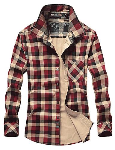68774567bb Hombre Manga Larga Camisa para senderismo Al aire libre Primavera  Transpirable Camiseta Top Algodón Salvia Rojo Camping y senderismo Pesca