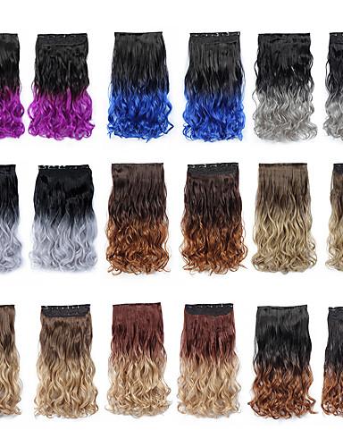 ราคาถูก Beauty & Hair-Febay วิกผมสังเคราะห์ Wavy สังเคราะห์ การต่อผม คลิปใน Ombre 1 Bundle ปาร์ตี้ สังเคราะห์ สีกลมกลืน Male ทุกวัน