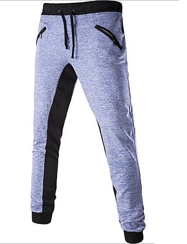 Pánské Aktivní strenchy Tepláky Kalhoty Volné Štíhlý Mid Rise Jednobarevné