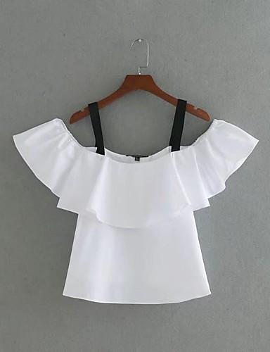 Damen Solide Einfarbig Einfach Sexy Street Schick T-shirt,Gurt Sommer Ärmellos Baumwolle Dünn Mittel