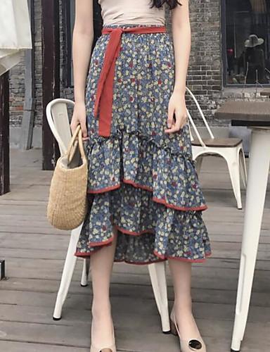 Damen Festtage Schaukel Röcke - Druck