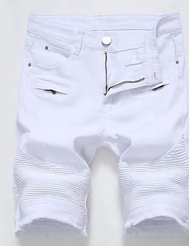 Men's Plus Size Cotton Slim / Shorts Pants - Solid Colored