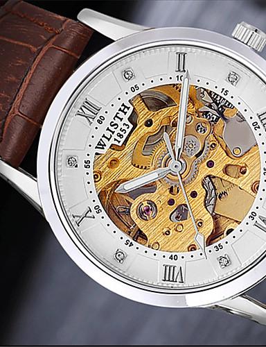 Pánské Křemenný Náramkové hodinky Žhavá sleva Kůže Kapela Na běžné nošení Módní Černá Hnědá