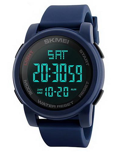 Herrn Sportuhr / Armbanduhr / Digitaluhr Chinesisch Alarm / Kalender / Wasserdicht Caucho Band Schwarz / Blau / Grün / LCD / Duale Zeitzonen / Stopuhr / Zwei jahr / Maxell626 + 2025