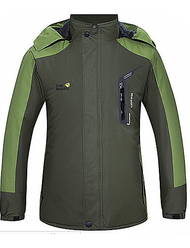 cheap Softshell, Fleece & Hiking Jackets-Women's Hiking Jacket Outdoor Waterproof Windproof Camping / Hiking Hunting Climbing Green / Red / Gray