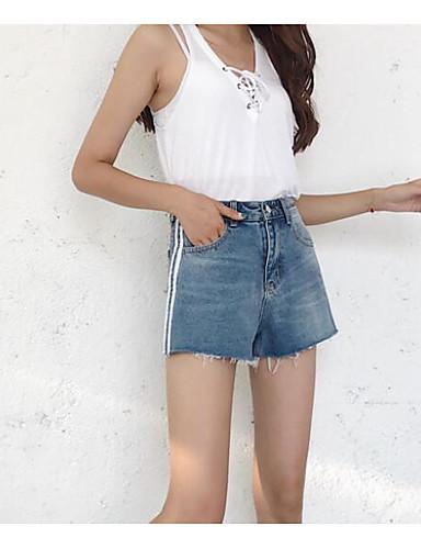 Damen Einfach Mittlere Hüfthöhe Mikro-elastisch Kurze Hosen Lässig Hose Gestreift
