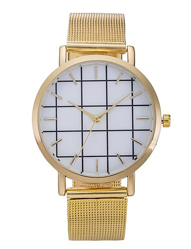 Dámské Náramkové hodinky čínština Cool Nerez Kapela Na běžné nošení / Módní Černá / Stříbro