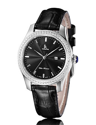 Dámské Módní hodinky Křemenný Kalendář Voděodolné Kůže Kapela Černá