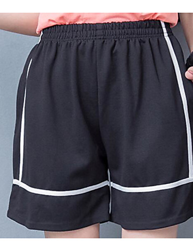 Dámské Jednoduchý strenchy Kraťasy Kalhoty Volný Mid Rise Jednobarevné