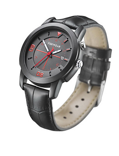 Pánské Chytré hodinky Módní hodinky Křemenný Kůže Kapela Černá Hnědá