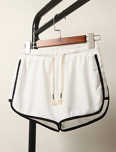 Dámské Jednoduchý Mikro elastické Kraťasy Kalhoty Volné Low Rise
