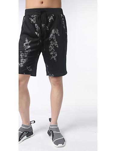 Pánské Na běžné nošení Aktivní Lehce elastické Volné Kalhoty chinos Kalhoty Mid Rise Polyester Zvířecí potisk Léto