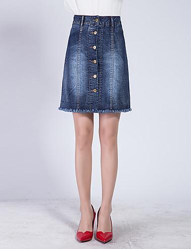 Damen Übergrössen A-Linie Röcke - Solide, Quaste Reine Farbe
