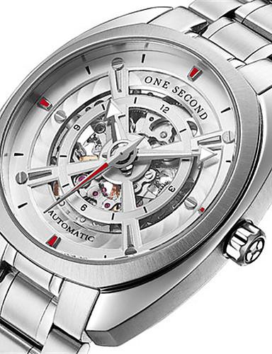 Pánské Módní hodinky mechanické hodinky Automatické natahování Kalendář Voděodolné Svítící Nerez Kapela Stříbro
