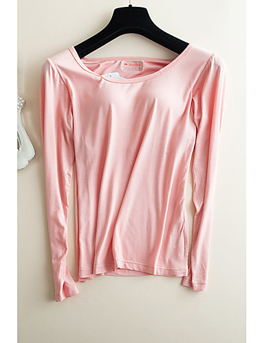 Damen Pyjamas Solide Baumwolle Schwarz Rosa