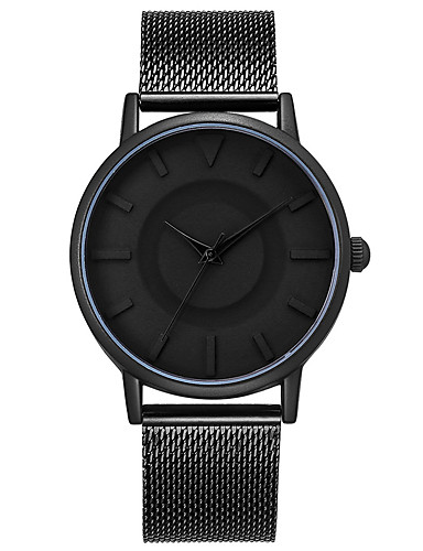 Men's Wrist Watch Japanese Water Resistant / Water Proof / Creative / Cool Stainless Steel Band Charm / Luxury / Vintage Black / Grey / Large Dial