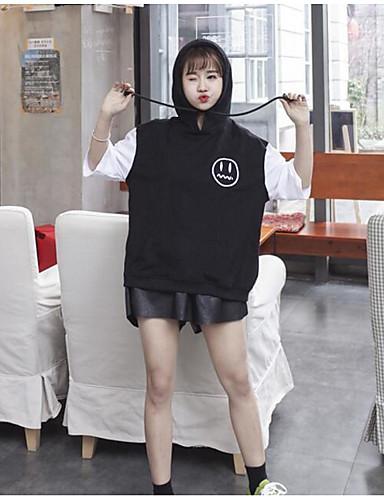 Damen Solide Sexy Ausgehen T-shirt,Rundhalsausschnitt ½ Länge Ärmel Baumwolle