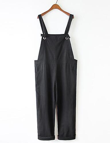 Dámské Na běžné nošení Lehce elastické Harémové Volné Montérky Kalhoty Mid Rise Jednobarevné Jaro Léto