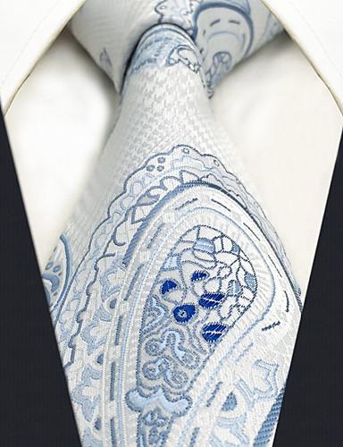 Men's Party Work Basic Rayon Necktie - Paisley Jacquard Basic