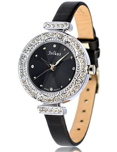 Dámské Módní hodinky Náramkové hodinky japonština Křemenný Voděodolné Kůže Kapela Černá Bílá Zlatá