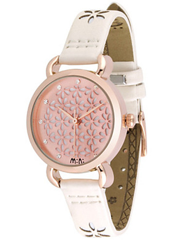 Dámské Módní hodinky Křemenný Kůže Kapela Růžová