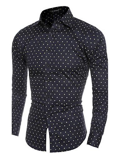 Herrn Schachbrett-Chinoiserie Baumwolle Hemd,Klassischer Kragen