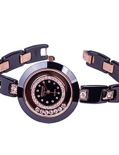 Dámské Křemenný Náramkové hodinky Módní Keramika Kapela Na běžné nošení Módní Černá Bílá