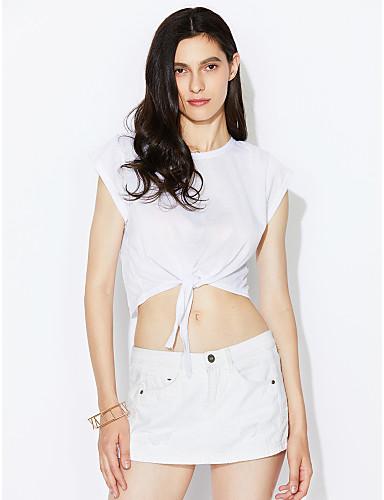여성 솔리드 라운드 넥 민소매 티셔츠,섹시 데이트 면 여름