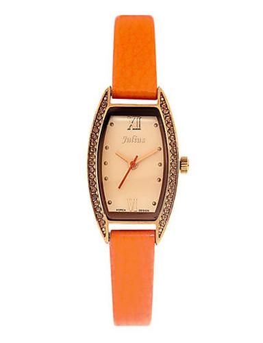 Dámské Módní hodinky Křemenný Voděodolné Kůže Kapela Na běžné nošení Černá Bílá Modrá Červená Orange