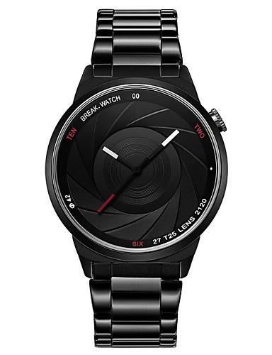 Pánské Módní hodinky japonština Křemenný Hodinky na běžné nošení Nerez Kapela Na běžné nošení Černá