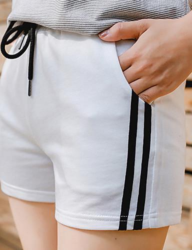 Damen Einfach Aktiv Hohe Hüfthöhe strenchy Schlank Chinos Hose,Polyester Sommer Gestreift Einfarbig