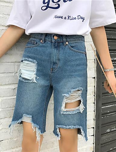 Damen Freizeit Breites Bein Kurze Hosen Hose Solide