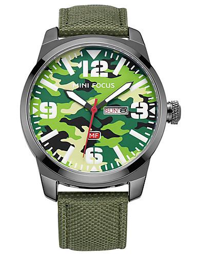 Homens Relógio de Moda Relógio Esportivo Quartzo Calendário Náilon Banda Casual Preta Azul Verde Cáqui
