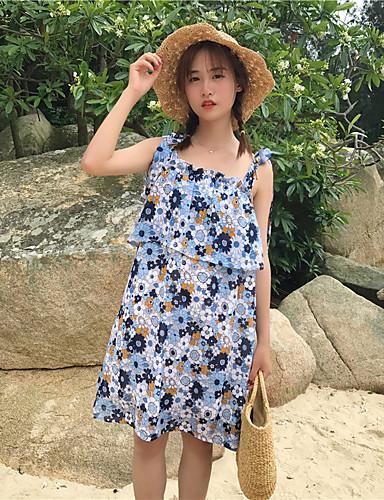 Women's A Line Dress - Floral Print / Summer