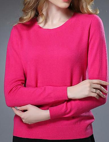 Women's Daily Cute Regular Pullover