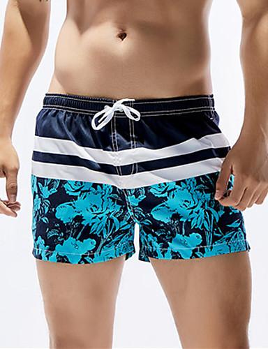 Homens Esportivo Calcinhas, Shorts & Calças de Praia - Floral Shorts de Natação