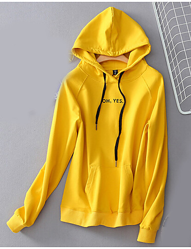 Men's Daily Hoodie Solid Hooded Micro-elastic Cotton Long Sleeve Fall