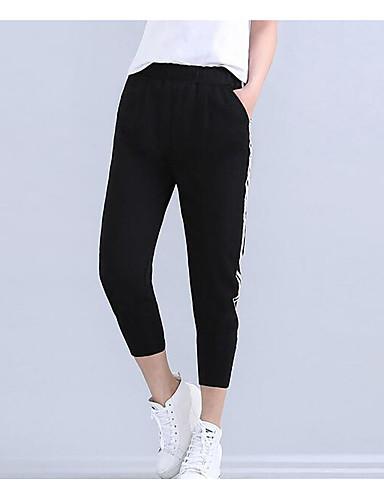 Women's Active Cotton Skinny Harem Pants - Striped