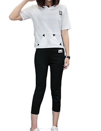 Women's Sports Casual Summer Hoodie Pant Suits
